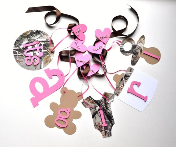 realtree camo baby shower decorations pink and brown it 39 s