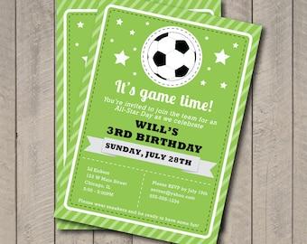 Soccer Birthday Invitations gangcraftnet