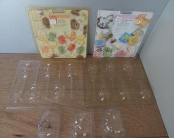Vintage 1991 Wilton Candy Molds. Set of Plastic Soap Molds