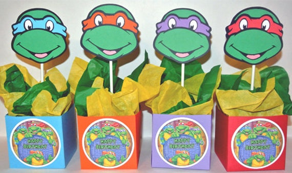 Teenage Mutant Ninja Turtles 4 Birthday Party Centerpieces Party Favors - Birthday Invitations