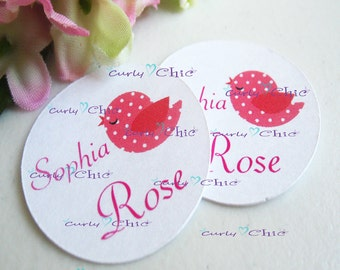 """100 Personalized Circles Size 2.00""""  -Custom Circles Label -Printed Circles tag -Paper Circles die cut -Baby Shower Favor Tags -Custom Tags"""