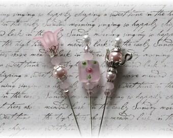 Pretty Pink Stick Pins Scrapbooking , Cardmaking, Tag Art, Mini Album, Weding