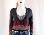 HALF PRICE vintage glitter wool pull