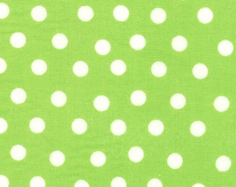 Berenstain Bears - Welcome To Bear Country  Cotton Fabric - Lime Green Dot 55506 27 - 1/2 yard