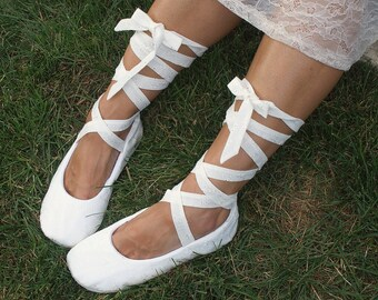 Ivory Ballet FlatsIvoryBallet SlippersCustom FlatsIvory Flats