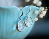 Clear earrings, Crystal earrings, Clear crystal earrings, Winter wedding, Bridal Jewelry, Crystal earrings, Glass earrings