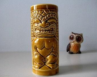 Vintage tiki tumbler or vase