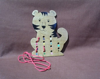 Lacing/Sewing Card - Tiger