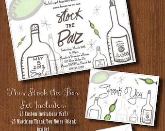 Stock the Bar Retro Invitation Set