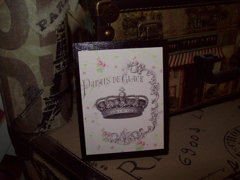 Pink crown palais de glace plaque signparis theme paris for Glace decoration