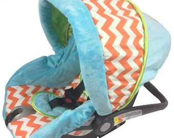Baby Boy Custom Car Seat Cover, replacement cover for your Baby Car Seat, Boy Car Seat Covers