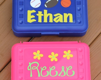 Personalized Pencil Crayon Box Back To School Boy or Girl LIMITED SUPPLY