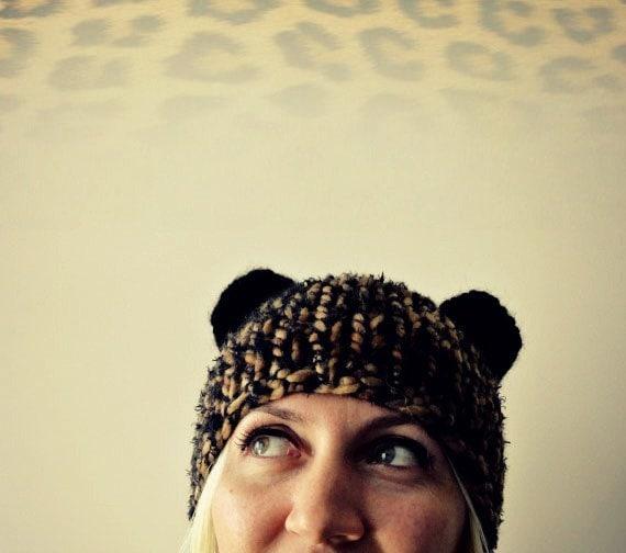 Cat Ear Hat, Chunky Knit Ears Beanie, Bear Ear Hat, Cat Ear Beanie, Gift for Her, Womens Gifts, Gift for Daughter, Girlfriend, Ear Hat