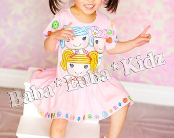 Hand Painted dress handpainted size 6 12 18 24 2 3 4 5 ETSYKIDS Boutique custom