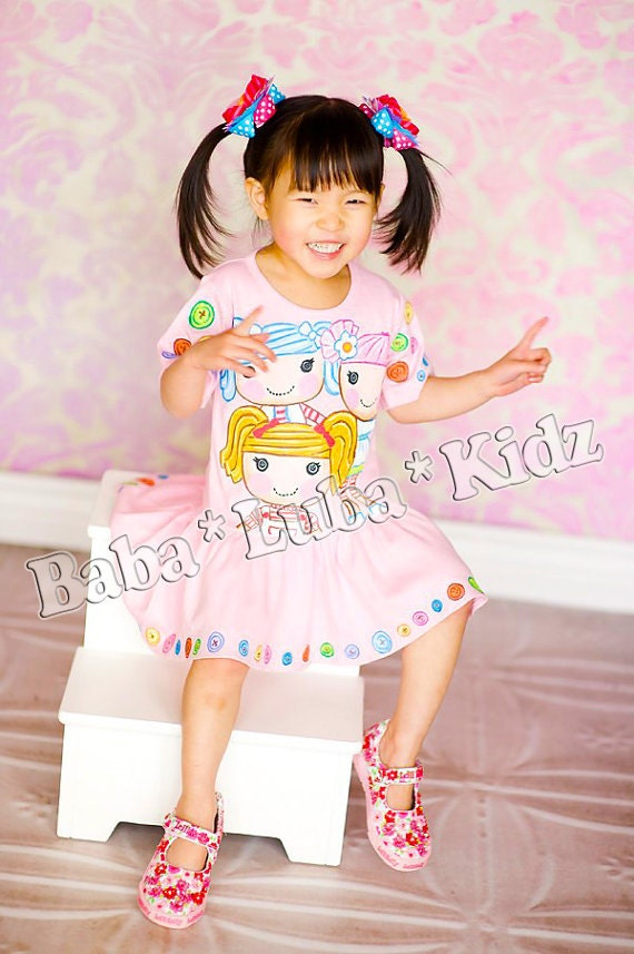 Hand Painted dress handpainted size 6 12 18 24 2 3 4 5 ETSYKIDS Boutique custom