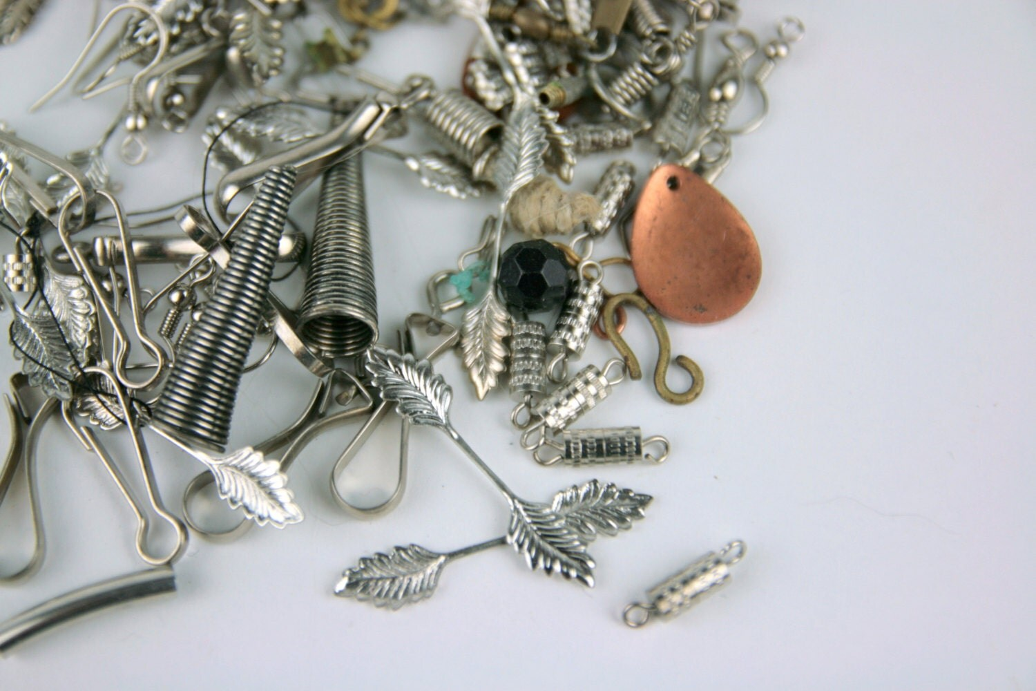jewelry supply vintage variety jewelry supplies silver clasps destash 1744