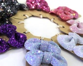 SALE Glitter Bow Shoe Clips - Lets Be Girly Collection