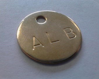 100 - Personalized Solid Brass Tags - One Inch