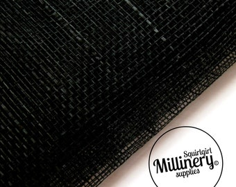 Sinamay Fabric Black (1/2 yard) for Millinery & Hat Making