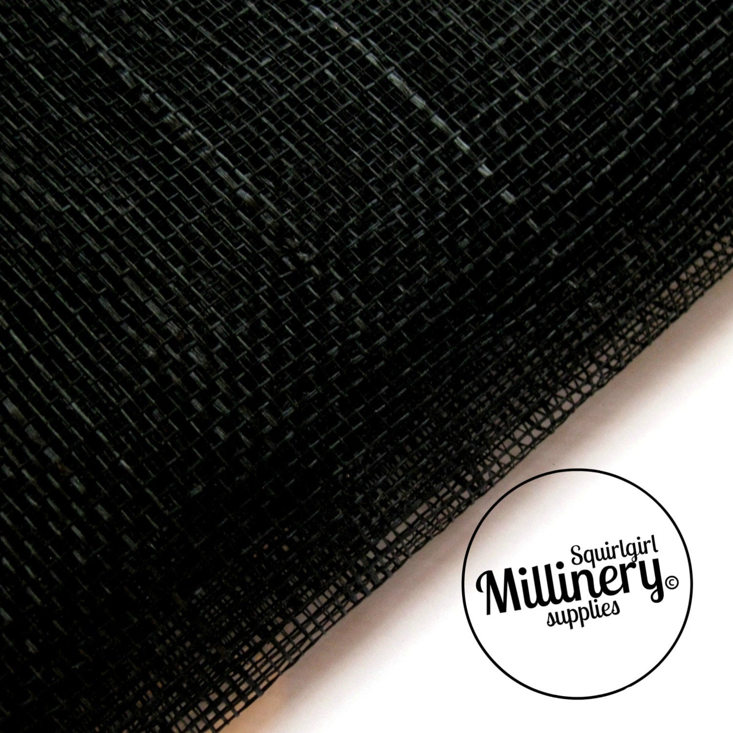 Sinamay Fabric Black 1 2 Yard For Millinery Amp Hat Making