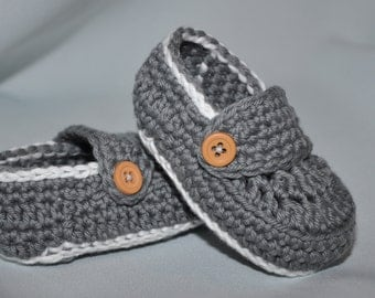 Gray Baby Booties, Baby Loafers