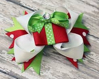 Clearance Ready to ship Christmas present hair bow baby toddler girls