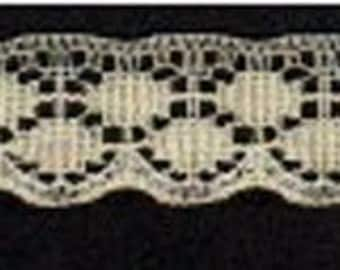 "3/4""  Cream Flat Lace - 25 cents a yard"