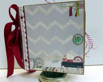 Christmas - Paper Bag Album - Scrapbook -  Journal