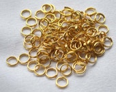 Gold Plate Split Rings, 5mm, 100 pieces, Jewelry Supplies