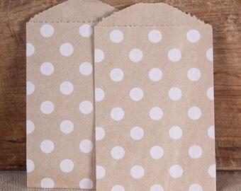 Mini Brown Favor Bags, Mini Favor Bags, Utensil Bags, Wedding Favor Bags, Mini Treat Bags, Brown Favor Bags, Kraft Bag (12)