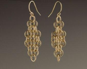 14k Gold Filled Mesh Earrings - size 5