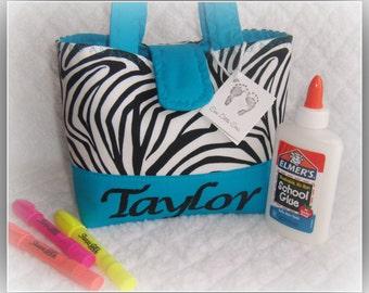 Personalize Zebra Handbag-Little Girls Purse Etsykids team