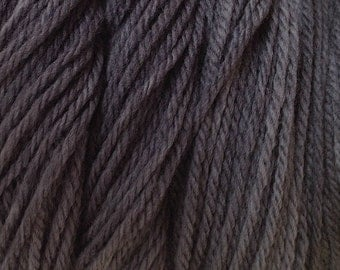 Smoke Gray Worsted Weight Hand Dyed Merino Wool Yarn