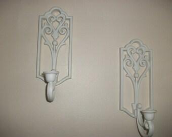 2 Homco Vintage Ornate Canle Sconces
