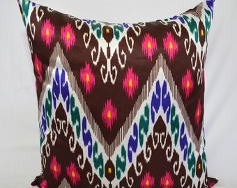 20 x 20 ikat pillow cover, Decorative Pillows, Accent Pillows, Throw Pillows, Pillow cases, ikat cushion, Home Decor, SALE, pillows, cushion
