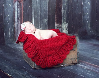 Baby Blanket CROCHET PATTERN  Afghan Newborn Car Seat Stroller Build A Shell Border