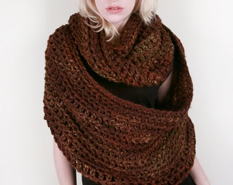 SALE - The Tallulah Wrap Scarf in Sequoia Heather