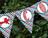 Airplane Retro Vintage Banner Party Printable - Stick to Your Story