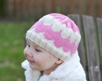 Knit Scallop Baby Hat Pattern