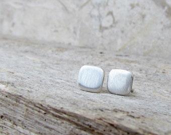 Silver Stud Earrings, 5mm Small Silver Earrings, Silver Stud Earing, Silver Square Studs, Stud Earings, Sterling Silver Stud Earrings