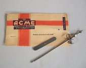1930's Acme Twin Curl Cutter Vintage Kitchen Garnish Tool In Original Package