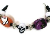 Scull, Ghost, Black Cat Bracelet, Gifts for Women, Gifts Under 25, Last Minute, Gift Wrapped, Halloween Jewelry