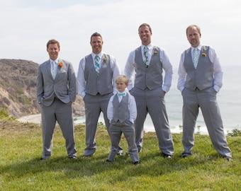 Mint Wedding Neckties, Mens Neckties, Wedding Neckties, Custom Neckties