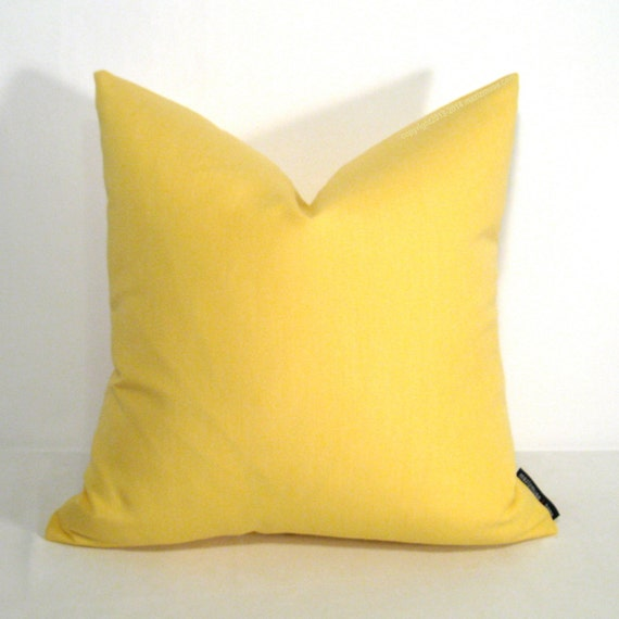 Light Yellow Pillow Cover Decorative Outdoor Pillow by Mazizmuse