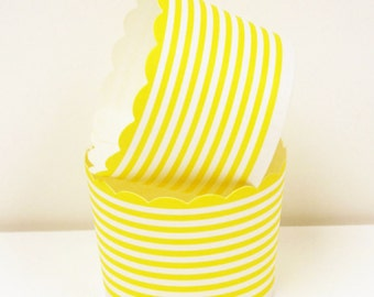 Cupcake Cups, 20 YELLOW CIRCLE CUPCAKE Liners, Candy Cup, Nut Cup, Party, Packaging, Baby Shower, Wedding Favors, Baby Shower Party Cup