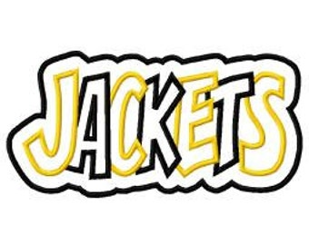 Jackets with a Shadow 2 Color Embroidery Machine Applique Design 2852