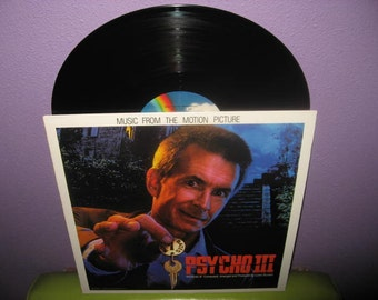 HOLIDAY SALE Vinyl Record Album Psycho III Original Soundtrack Lp 1986 Horror Halloween Classic