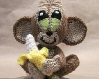 Crocheted Monkey PDF Pattern - Digital Download - ENGLISH ONLY