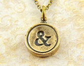 Initial Necklace - One Bronze Letter Charm