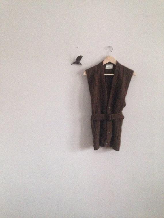 vintage 70's belted sweater vest